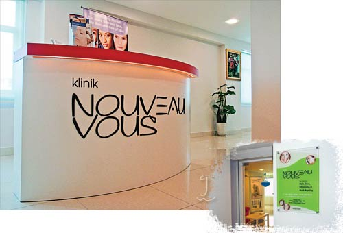Logo and Display Design for Klinik Nouveau Vous