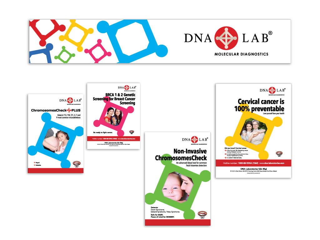 Graphic Identity for DNA Lab