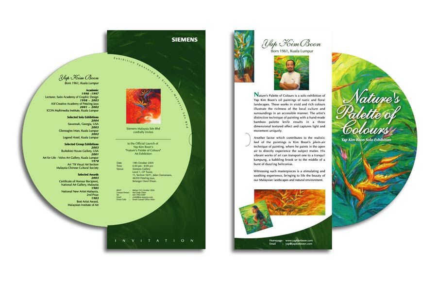 Yap Kim Boon – Siemens art exhibition invitation card design