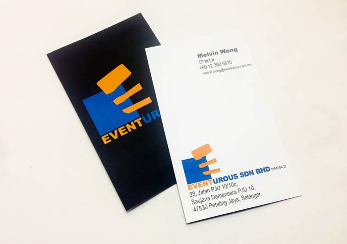 Business card design for Eventurous